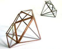Hanging Terrarium / Diamond / Hanging Diamond Terrarium / Minimalism $65