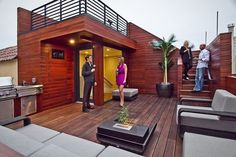 deb to caption Photo: Martina Brehmer, Studio Peek Ipe Decking, Cedar Cladding, Steel Railing, Building Department, Roof Deck, Roof Top, Gas Fires, Outdoor Living, Outdoor Decor