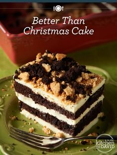 YUM! Every #Christmas dinner should end with a cake!