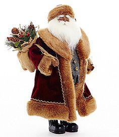 Dillards Trimmings 19 Heritage Santa with Pinecones Figurine #Dillards