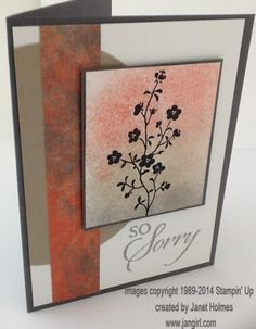 So Sorry card by holmesj - Cards and Paper Crafts at Splitcoaststampers