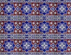 Hala City make blue tiles