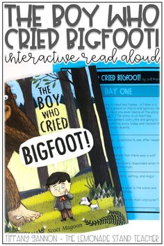 "Looking for engaging fables activities for kids? Make teaching about fables like ""The Boy Who Cried Bigfoot!"" even more fun with these hands on activities, anchor charts, graphic organizers, and digital lessons. Click the pin to see ALL the fun included!"