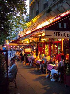 Parisian Cafe...travel, substance of delicious food and those around you...enjoy