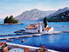 watercolor GREECE Corfu
