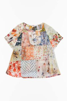 TWIN-SET Simona Barbieri, 2016 Summer Baby collection: patchwork blouse  FS6212