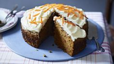 Nothing beats a classic carrot cake - this one has a touch of cinnamon and walnuts.