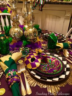 Fat Tuesday is just a few days away and I'm ready for the big party. I look forward to listening to zydeco music while having a nice di. Mardi Gras Centerpieces, Mardi Gras Decorations, Christmas Decorations, Holiday Decor, Mardi Gras Food, Mardi Gras Party, Mardi Gras Activities, New Orleans Christmas, Mardi Gras Wreath