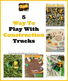 Rock Box- A Construction Theme Sensory BinDig into Construction Sites With 5 Way To Play With Construction Trucks Summer Activities, Toddler Activities, Learning Activities, Teaching Ideas, Transportation Theme Preschool, Small World Play, Construction Theme, Sensory Bins, Sensory Play