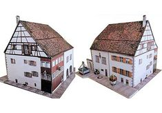This building paper model is the Weberzunfthaus in Wangen, created by Ausschneide Bogen. There are 1:87 (H0) and 1:160 (N Scale) three scale versions. It is perfect for Dioramas, RPG and Wargames.