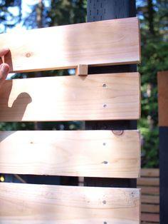 nailing horizontal fence
