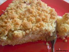 Rebarborový koláč s drobenkou dole i nahoře | Hříšně dobrý blog Krispie Treats, Rice Krispies, Rhubarb Recipes, Sweet Recipes, Macaroni And Cheese, Cooking, Ethnic Recipes, Fit, Blog
