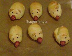 Szilveszteri malac hot-dog Hot Dog, New Product, Sea Shells, Xmas, Vegetables, Deco, Food, Seashells, Christmas