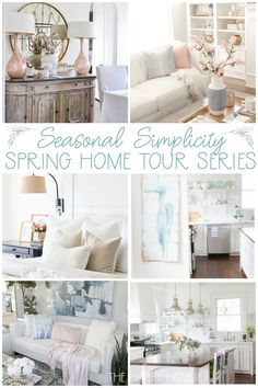 Beautiful Spring Home Decor Ideas From Top Bloggers Featuring Lush Florals Soft Blush And Pinks