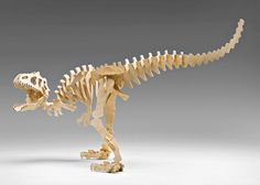 Bag of Bones- Large Allosaurus - Large Scale 3-D wooden Dinosaur Puzzle with engraved box