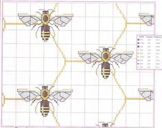 honeycombs & bees cross stitch