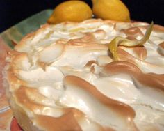 "Desperate Housewives Secret Lemon Meringue Pie from Food.com: Katherine Mayfair's secret recipe that made Bree Van De Kamp furious, because ""the girls"" liked the new neighbor's pie better than Bree's! Bree tried to break into her house to steal the recipe but was unsuccessful. I don't see an exact duplicate on Zaar so maybe it is a secret....not anymore! I like that it's not too sweet, and use Boyajian Lemon Oil in place of the zest, which gives it a strong lemon flavor. Cook time includes…"