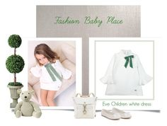"""""""fashionbabyplace.com - Girl white dress"""" by fashionbabyplace ❤ liked on Polyvore featuring Improvements"""