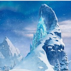 Ice and Snow Photography Backdrops Ice Mountain by katehome2014