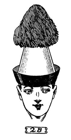 Quirky Vintage Clip Art - Men with Funny Party Hats - The Graphics Fairy