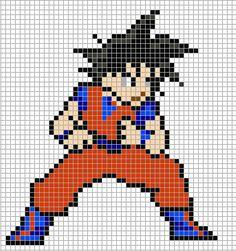 Goku Dragon Ball perler bead pattern