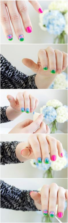 Some sweet spring nail art that's all about the blooms! #flower #manicure