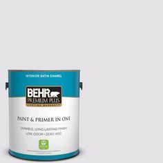 BEHR Premium Plus 1-gal. #PR-W2 Early Crocus Satin Enamel Interior Paint