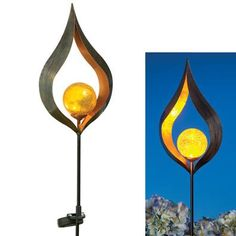 ABSTRACT SCULPTURAL SOLAR GARDEN STAKE