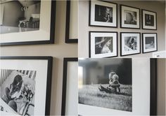 Creative Ways to Display Professional Documentary Photographs in your Home Gallery Wall Bedroom, Mirror Gallery Wall, Gallery Wall Layout, Gallery Walls, Large Photo Prints, Family Pictures On Wall, Mirrored Picture Frames, Hanging Photos, Inspiration Wall