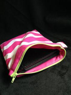 Water ProofResistant 7 Tablet Zipper Bag pink by ThreadsOnMyLegs