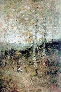 Rodica Painting by Nicolae Grigorescu Art History Major, Post Impressionism, Vintage Wall Art, Painting Inspiration, New Art, Landscape Paintings, Art Photography, Original Art, Abstract Art