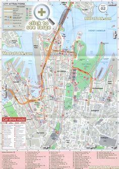 Sydney Printable Tourist Map | Free Tourist Maps ✈ | Sydney map ...