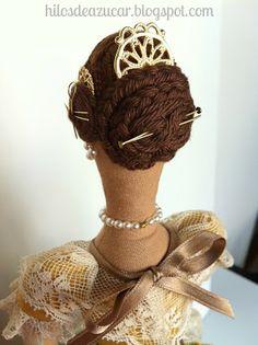 Doll Sewing Patterns, Sewing Dolls, Doll Wigs, Doll Hair, Ann Wood, Wig Making, Pretty Dolls, Fabric Dolls, Vintage Dolls