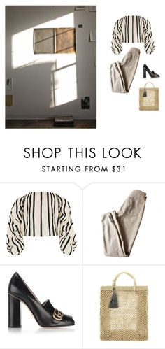 """""""folded pants are hard to work with"""" by l-jane ❤ liked on Polyvore featuring Johanna Ortiz, American Apparel and Gucci"""