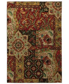 Karastan Area Rug - twist on a traditional looking rug. Would look good with brown leather couch