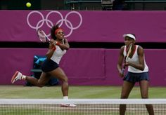 Venus and Serena Williams defeated Andrea Hlavackova and Lucie Hradecka of the Czech Republic 6-4, 6-4 to capture Olympics Doubles Title. #Olympics2012