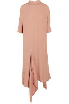 Marni - Asymmetric Washed-crepe Midi Dress - Pink - IT38