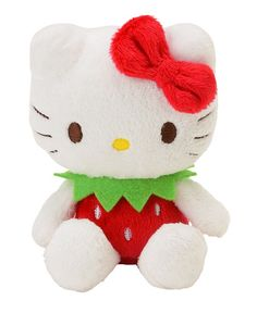 Sanrio Hello Kitty Plush Doll Mascot Stuffed Toy Strawberry Red | eBay