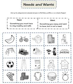 Worksheets Financial Literacy Worksheets pinterest the worlds catalog of ideas needs and wants worksheet free on also printable due to f