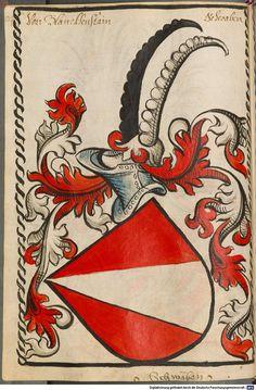 Scheibler'sches Wappenbuch Süddeutschland, um 1450 - 17. Jh. Cod.icon. 312 c  Folio 84