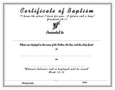 Baby Christening Certificate Template Free | Baby Boy ...