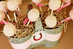 cowgirl party cakepops