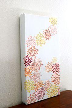 Original Acrylic Painting - Dahlias