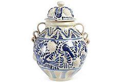 Hand thrown lidded jar by Gorky Gonzalez
