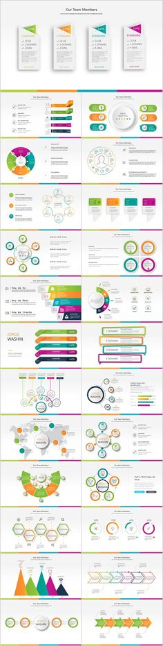 Business infographic : 27 Red business Year plan PowerPoint Template on Behance #powerpoint #templates