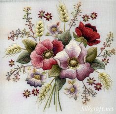 I ❤ embroidery . . . Bouquet of Crewel Flowers ~By Trish Burr
