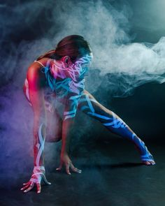 The vision's never been cloudy. . Body painting shoot with @char.baquiran and @jyshih21 as we experiment w/ smoke. . @organicalligraphy