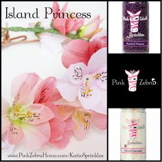 """Island Princess"" 1/2 Beautiful Woman, 1/2 Island Coconut  www.PinkZebraHome.com/KatieSprinkles #PinkZebra #Sprinkles #Recipes"
