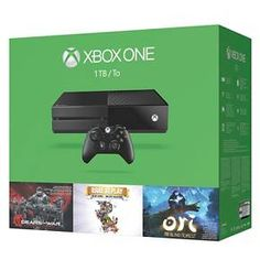 Xbox One 1TB Holiday Bundle with Gears of War: Ultimate Edition, Rare Replay, and Ori and the Blind Forest