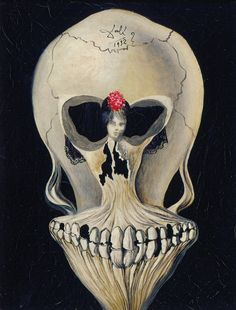Salvador Dalí (1904-1989). Ballerina in a Death's Head, 1932 (rather 1939). Oil on canvas, 24,5 × 19,5cm.   Collection Merz / Kunstmuseum Liechtenstein, Vaduz  © VG Bild-Kunst, Bonn 2012